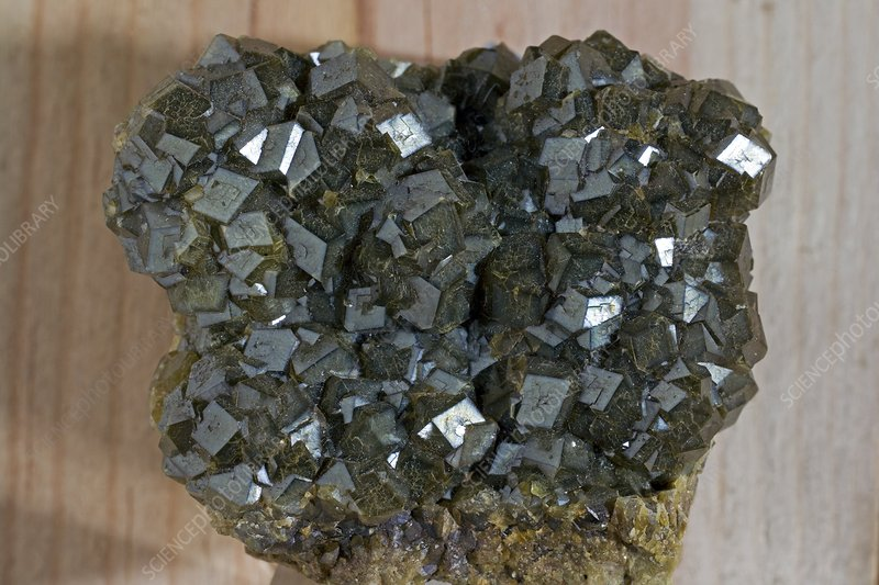 Andradite crystals