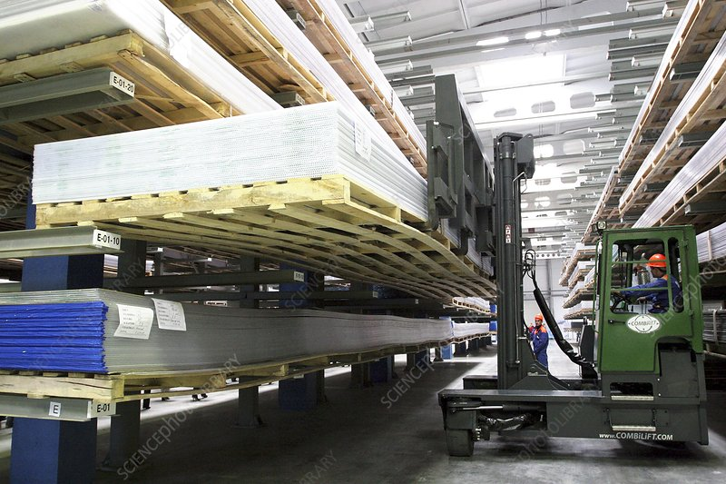 Warehouse of plastics factory