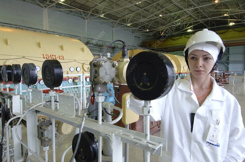 Worker at nuclear power plant