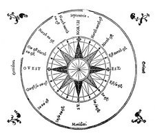 Compass rose, 1552 artwork