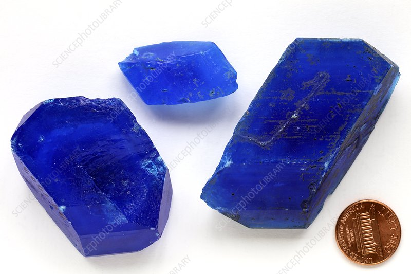 Hydrated copper sulphate crystals