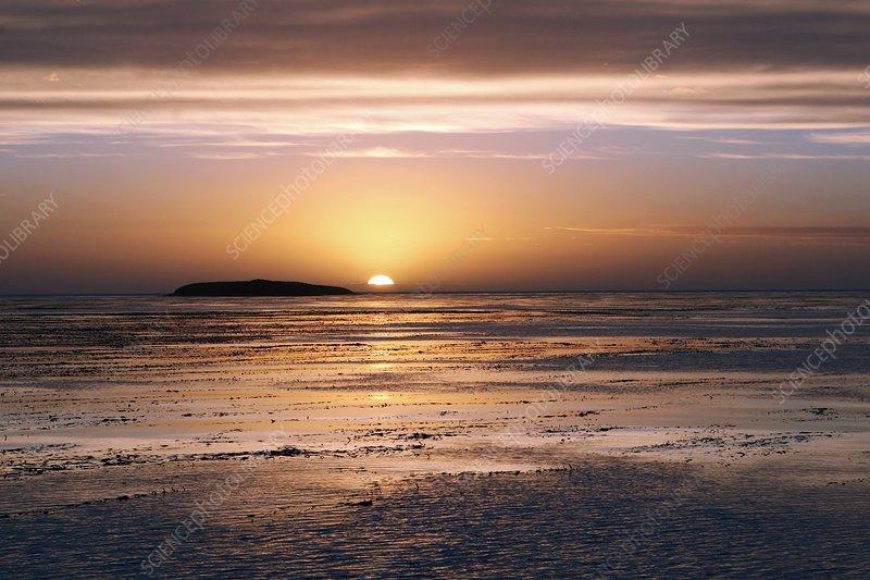 Sunset, Falkland Islands