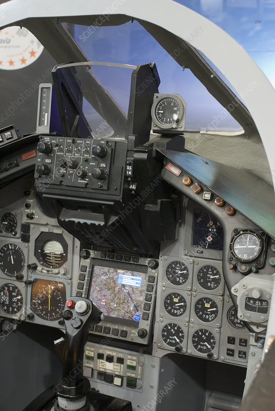 Military aircraft cockpit
