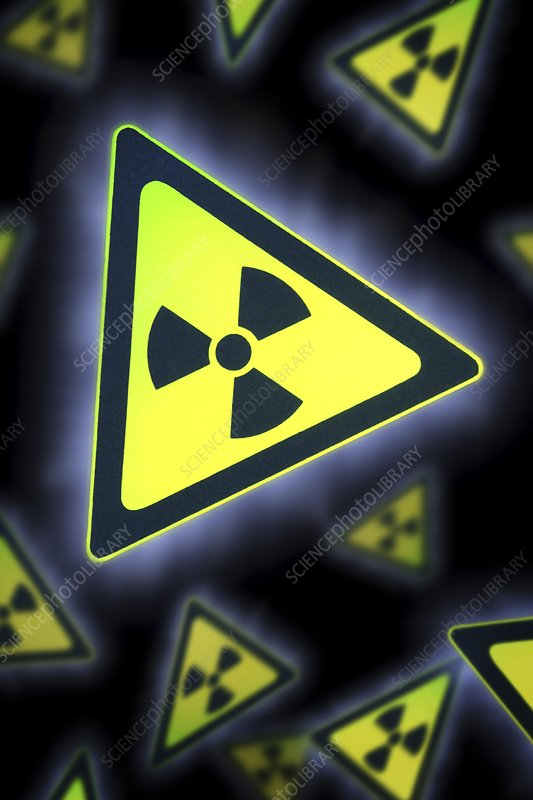 Radiation warning signs, artwork