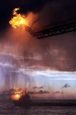 Gulf of Mexico oil spill flaring, 2010