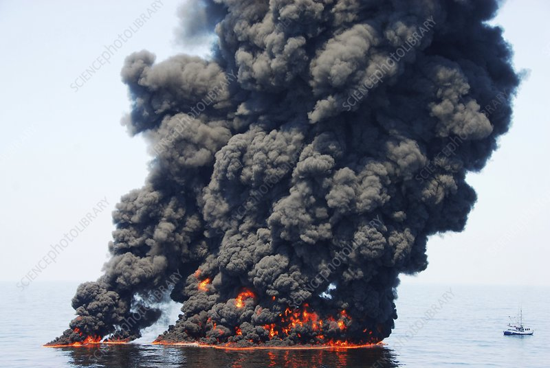 Gulf of Mexico oil spill burn-off, 2010
