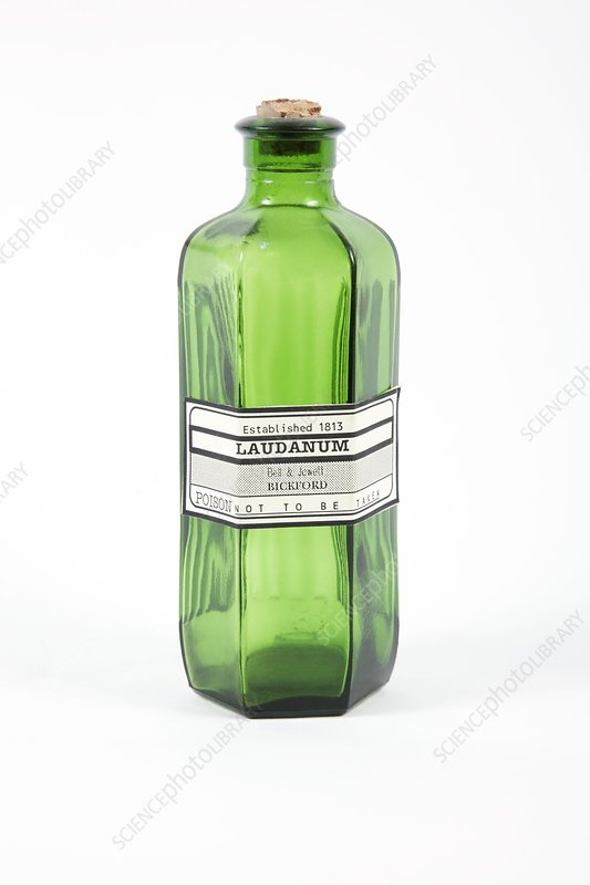 Antique laudanum bottle