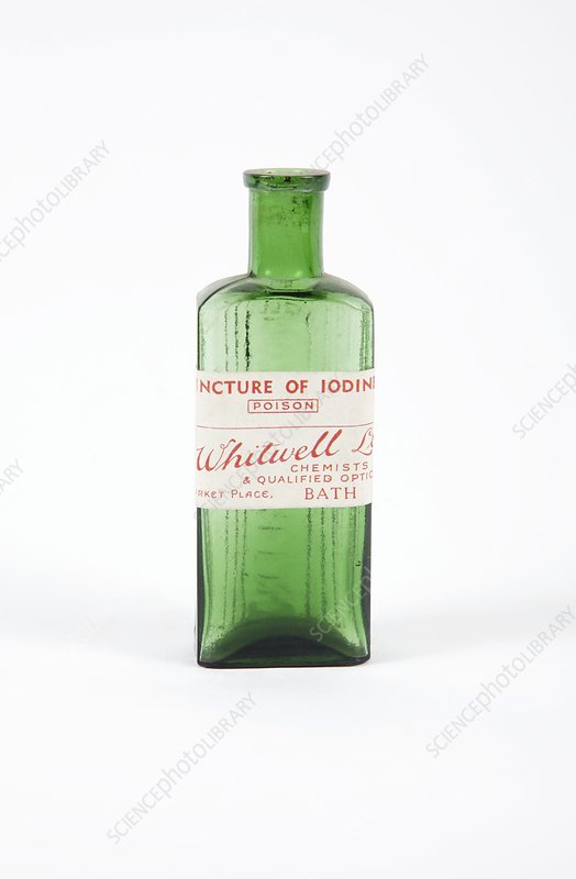 Antique Pharmacy Bottle Stock Image