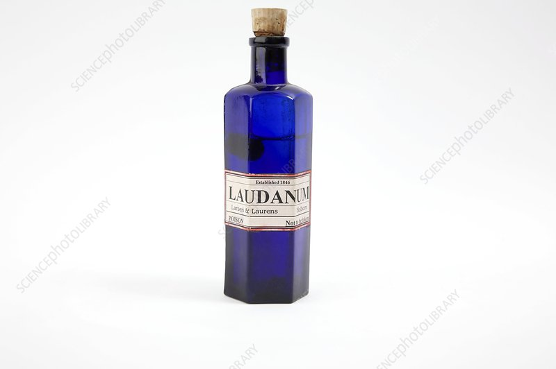 Antique Laudanum Bottle Stock Image