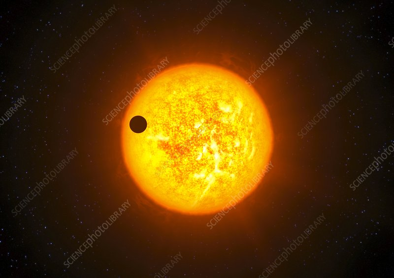 Exoplanet transiting its star