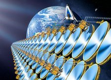 Solar power satellite, artwork
