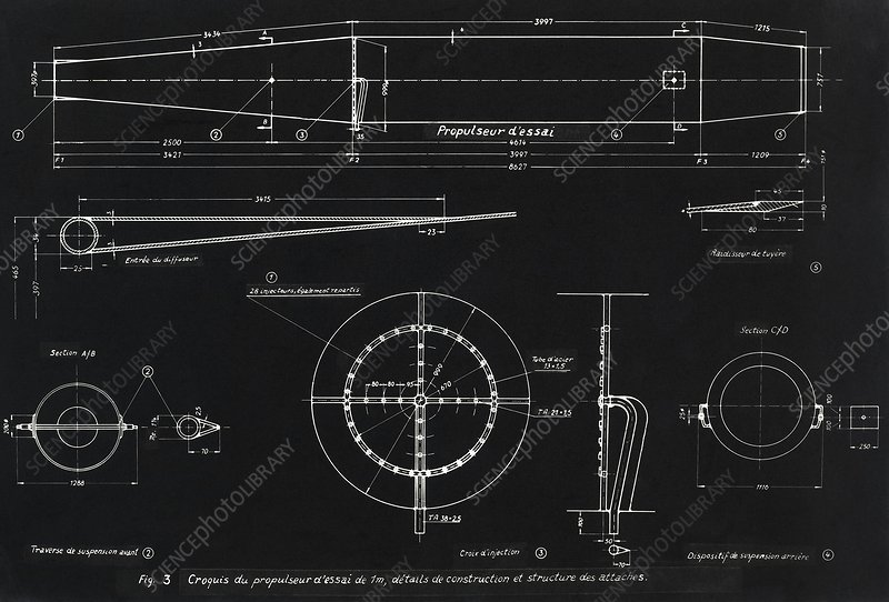 German wwii ramjet engine blueprint stock image c0072963 german wwii ramjet engine blueprint malvernweather Images