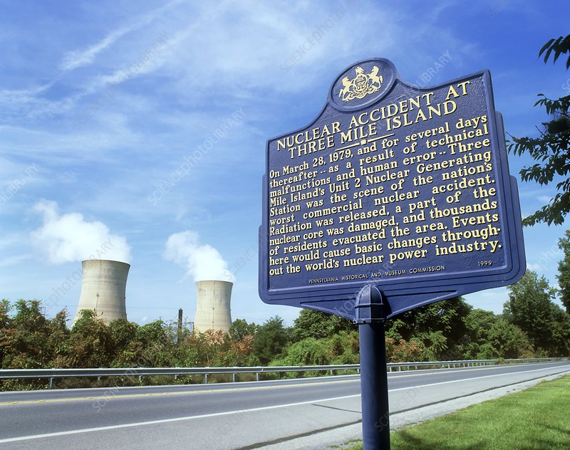 Nuclear power station accident plaque