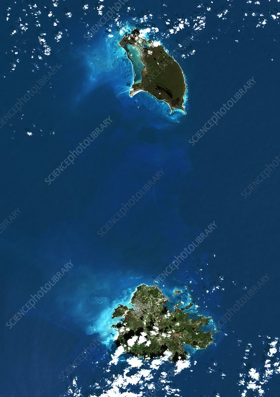 Antigua and Barbuda, satellite image