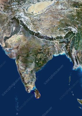 India, satellite image