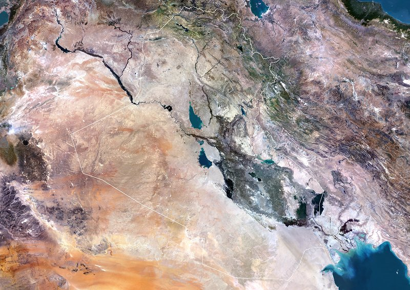 Iraq, satellite image