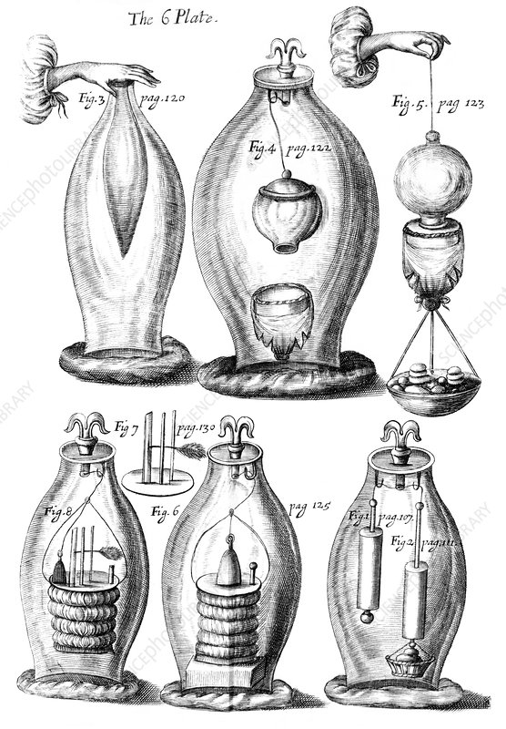 Boyle's experiments on air, 1669 artwork