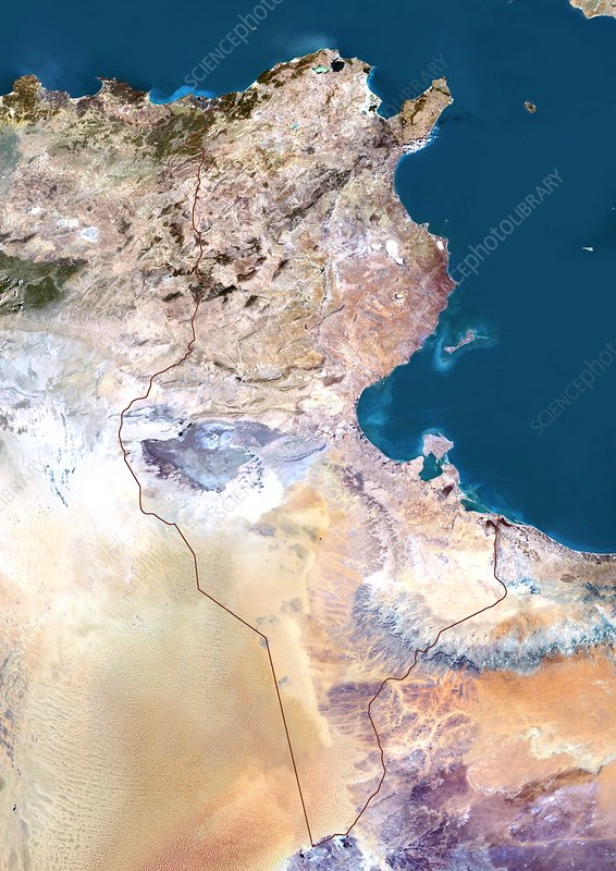 Tunisia, satellite image
