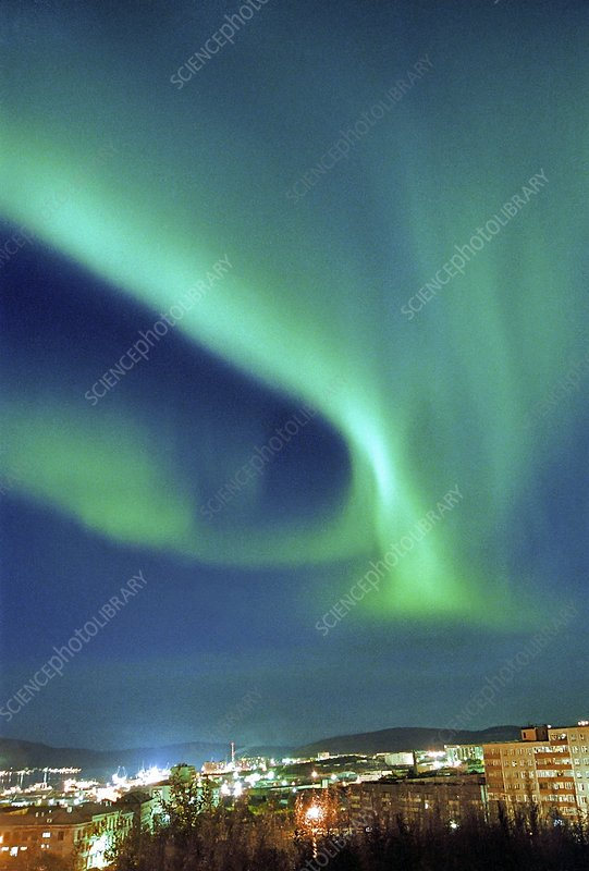 Northern lights over Murmansk