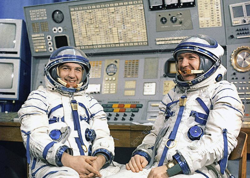 Soyuz 13 crew Klimuk and Lebedev