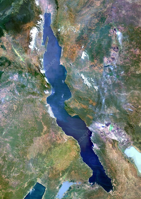 Lake Tanganyika, satellite image
