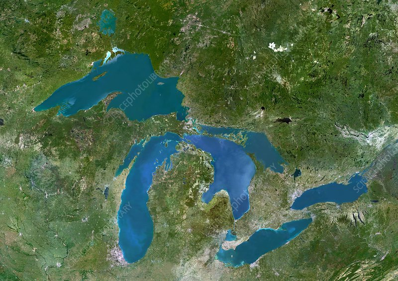 Great Lakes, satellite image