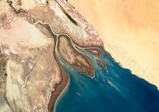 Colorado River Delta, satellite image