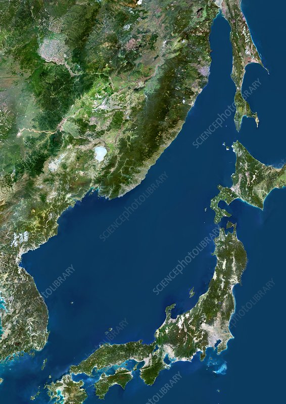 Sea of Japan, satellite image