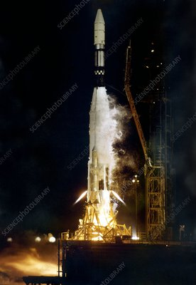 Ranger 1 Atlas-Agena rocket launch