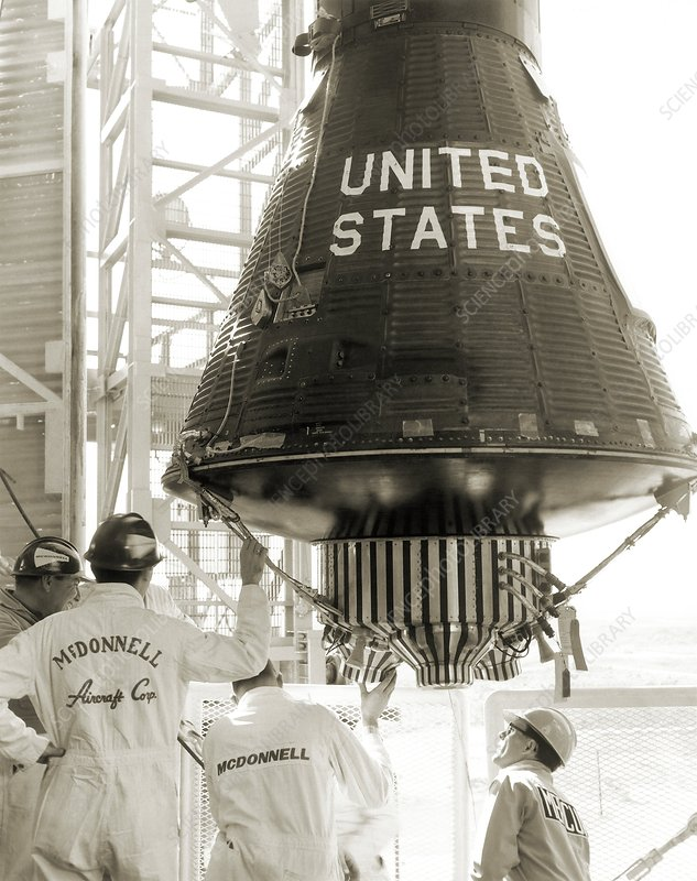 mercury-atlas 6 launch preparation - stock image c007  4455