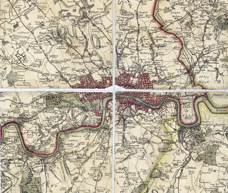 18th Century map of London