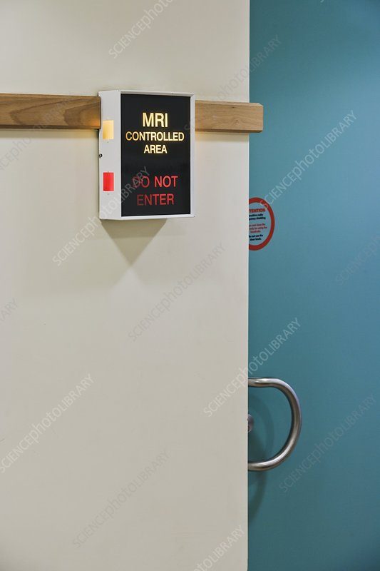 MRI Controlled Area, do not enter sign
