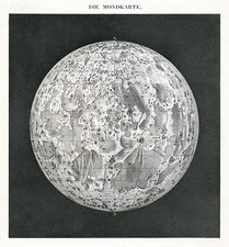 Lunar map of 1854