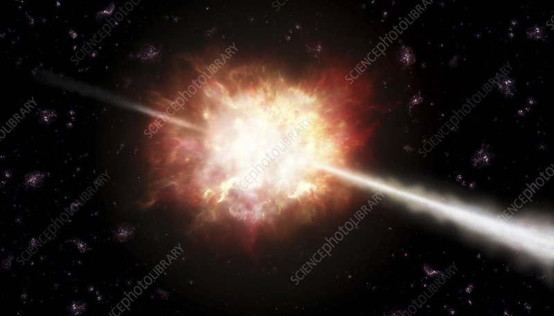 Gamma ray burst, artwork