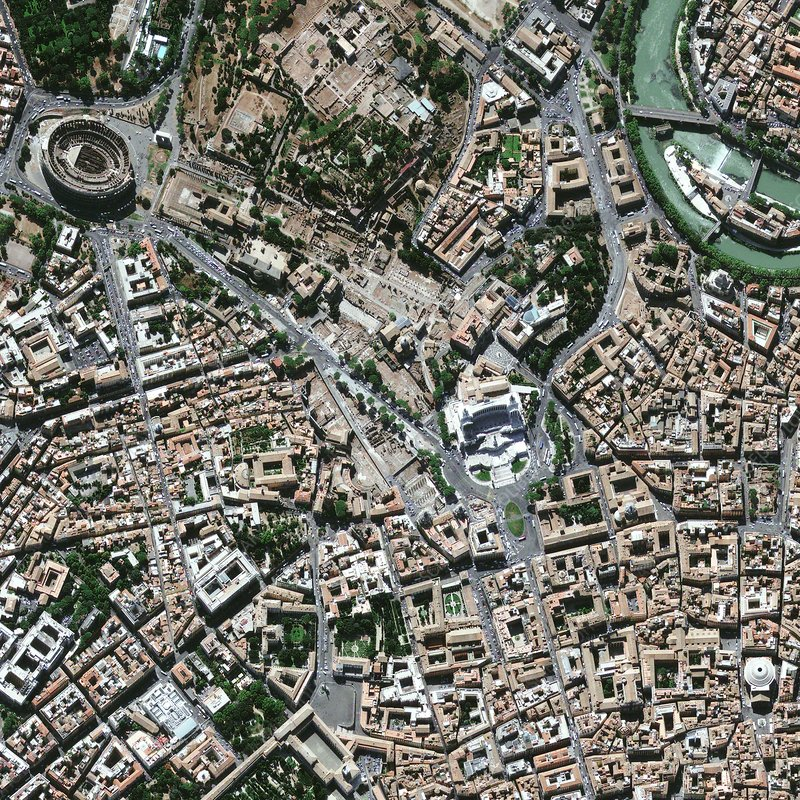 Central Rome, satellite image