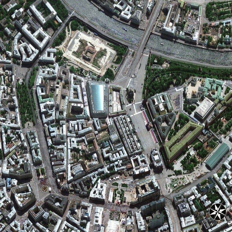 Central Moscow, satellite image