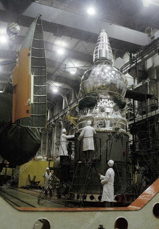 Resurs-F 6 satellite before launch