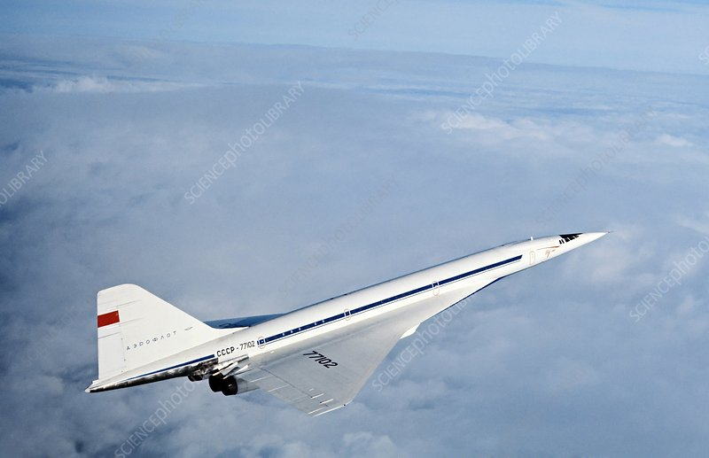 Tupolev Tu-144, first supersonic airliner