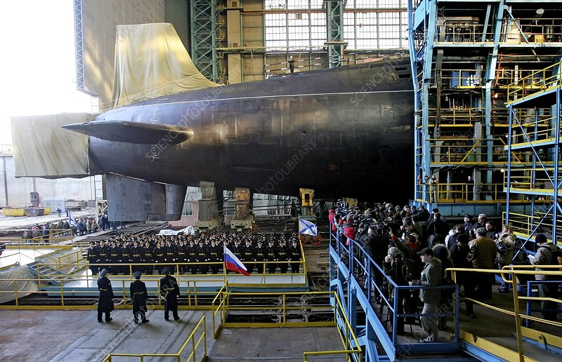 Launch of a Russian submarine