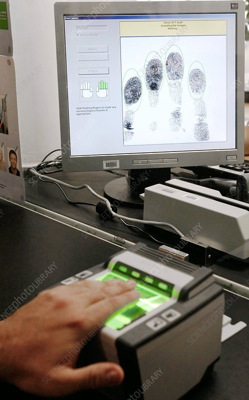 Biometric data gathering for visa