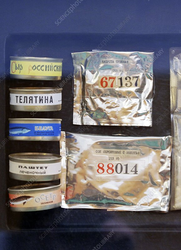 Cosmonaut food from Mir space station