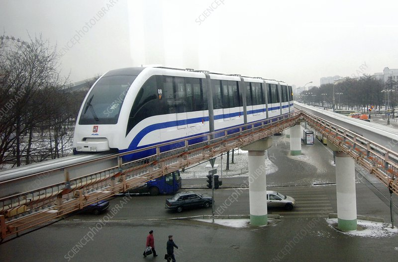 Train on the Moscow Monorail