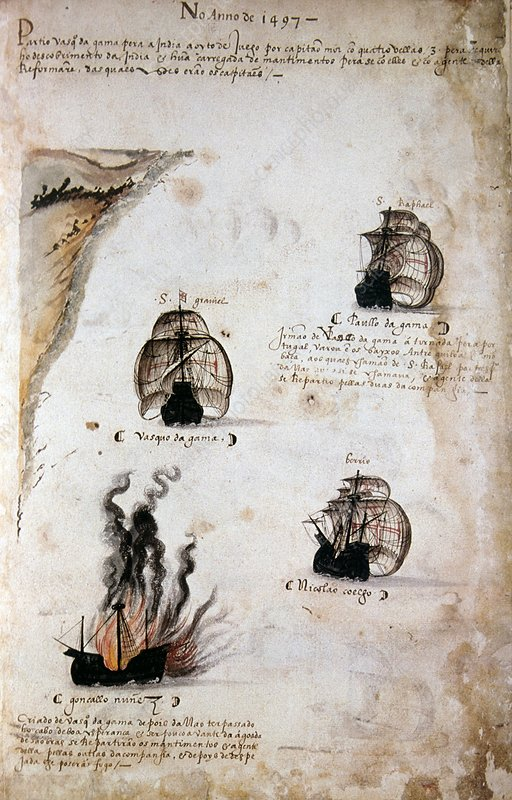 Vasco da Gama's fleet of 1497