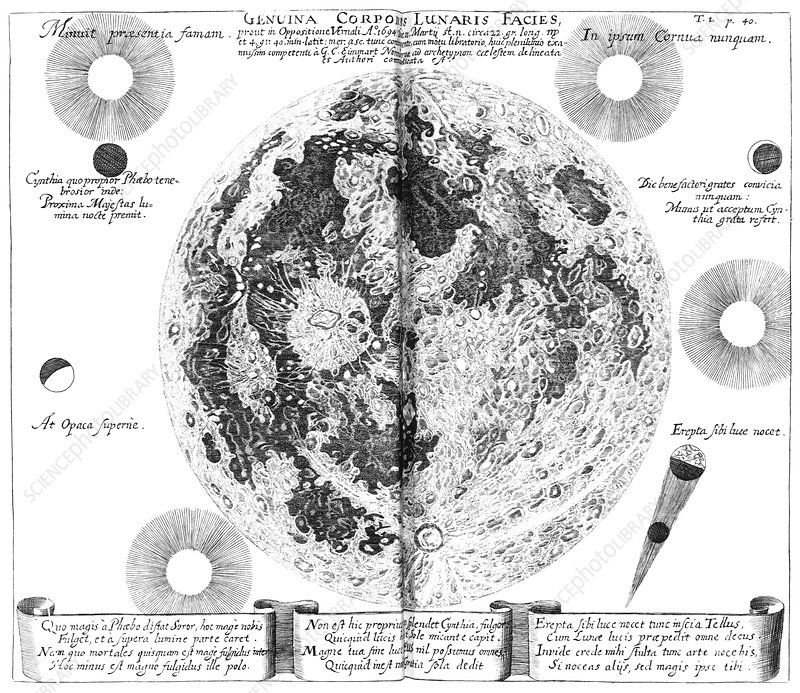 Moon map, 1696 artwork