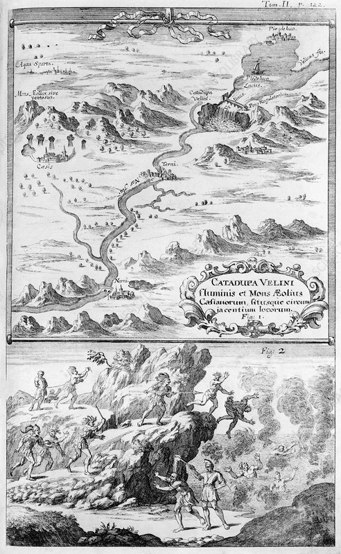 Draining of Lake Velinus, 1696 artwork