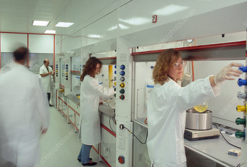 Researchers in Pharmaceutical Lab