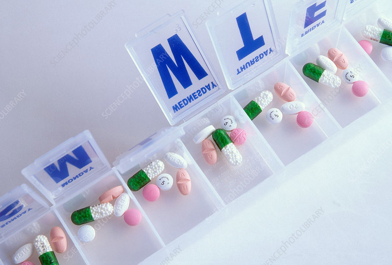 Pills in Daily Container