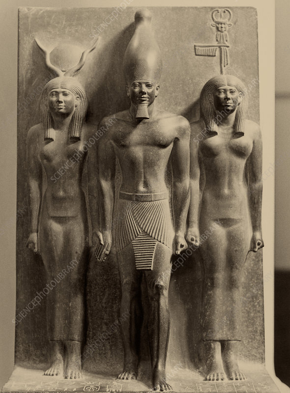 Menkaure, Hathor, and Bat