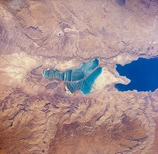 Dead Sea, view from Space Shuttle, 1989