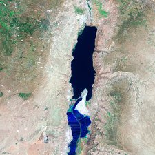 Dead Sea, satellite image, 1999